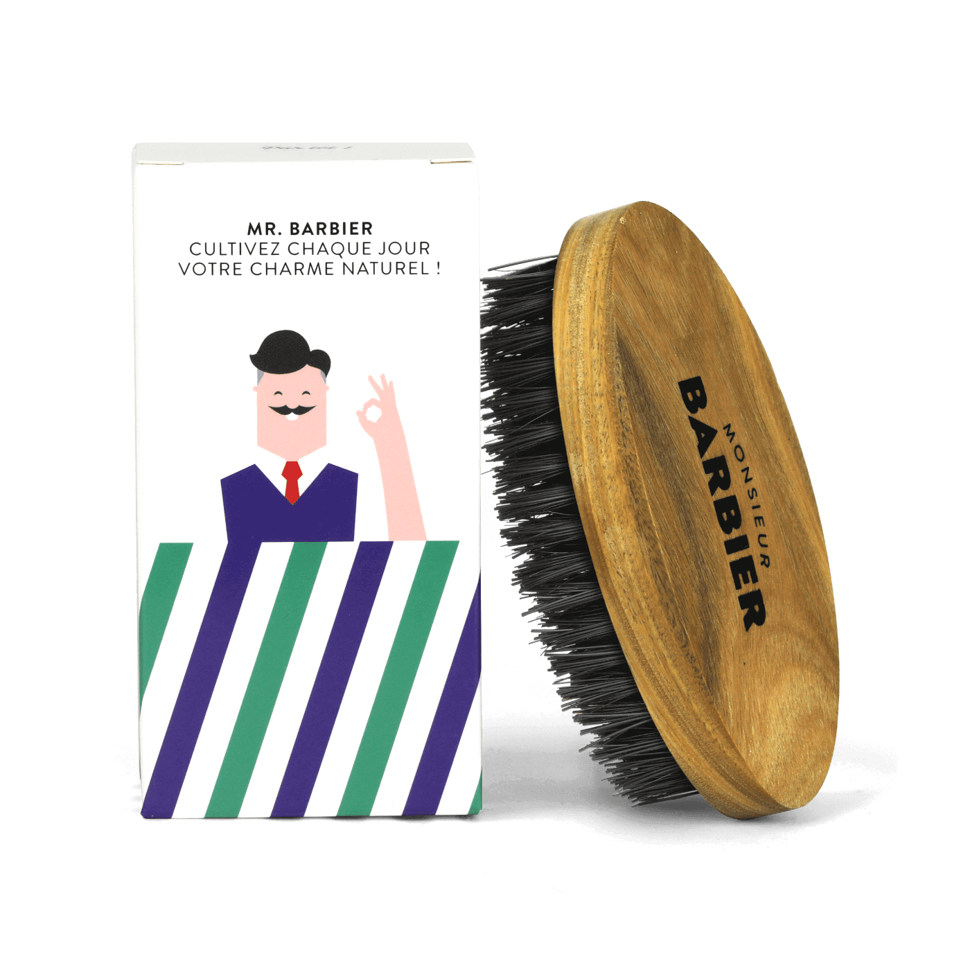 Brosse FINAL TOUCH Transparent - Monsieur BARBIER