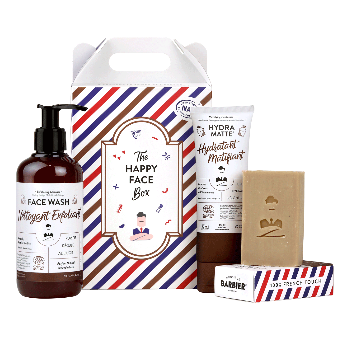 Coffret Soin Visage : HAPPY FACE-Monsieur BARBIER